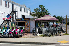 Island Moped Rentals -- Block Island, RI. Stock Photography