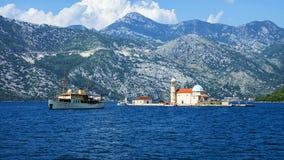 Island Mother of God on the Rocks, Montenegro Stock Photos