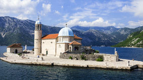 Island Mother of God on the Rocks , Montenegro Stock Photo
