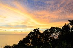 Island and Mountain with twilight sky and sunset time at Trad pr Royalty Free Stock Images