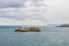 Island of Mouro in Santander, Spain royalty free stock image