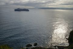 Island Mouro,Santander, Spain. Fotost filmed in 2018. royalty free stock photo