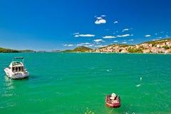 Island of Murter colrful seascape Stock Photo