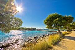 Island of Murter famous beach Royalty Free Stock Photo