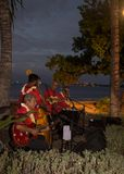 Island Music at Sunset in Maui royalty free stock photo