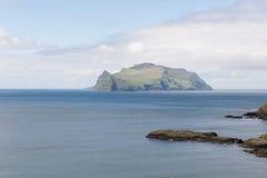 The island Mykines on the Faroe Islands Stock Photos