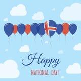 Island-Nationaltag-flaches patriotisches Plakat stock abbildung
