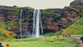Island-Natur Seljalandsfoss Überraschendes Foto! stockbilder