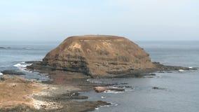 Island near coast stock video footage