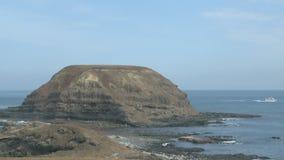 Island near coast stock footage