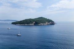 Island near Dubrovnik Stock Photo
