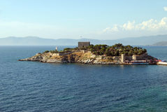 Island near Kusadasi Stock Images