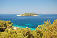 Picturesque scene of lonely island near Sibenik, C Royalty Free Stock Photography