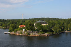 Island near the stockholm Stock Photography