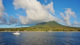 The island of Nevis Royalty Free Stock Photo
