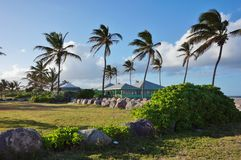 The island of Nevis Stock Photo