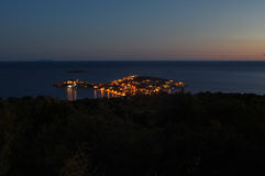 Island by night Stock Photo