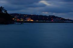 Island Night Lights Royalty Free Stock Photo