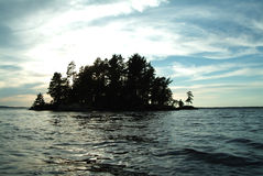 Island in the north. Pat Smith Island, Namakan Lake Minnesota stock photography