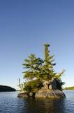 Island on a Northern Lake Stock Photos