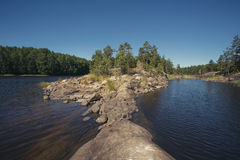 Island on the northern lake Stock Photography