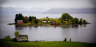 Island in norway Royalty Free Stock Photos