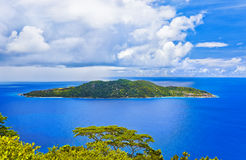 Island in ocean Royalty Free Stock Photos