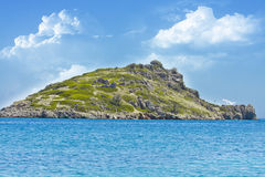 Island in the ocean Royalty Free Stock Photo