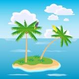 Island in ocean Stock Photography