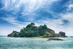 Island in ocean Royalty Free Stock Photos