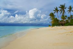 Island in ocean, Maldives Stock Photography