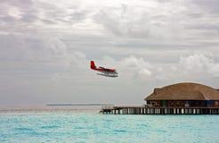 Island in ocean, Maldives Royalty Free Stock Photos