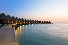 Island in ocean, Maldives Stock Photo