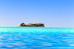 Island in ocean, Maldives. Stock Image