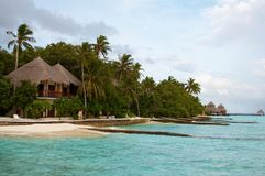 Island in the Ocean. Maldives. Royalty Free Stock Photography