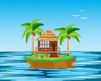 Island in ocean Royalty Free Stock Photo