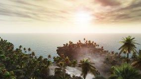 Island Of Palm Trees Stock Photos
