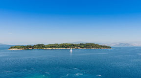 Island off Corfu Town Stock Photos