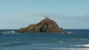 Island off of Hana Bay - Time Lapse. Shot with a Sony EX3 stock footage