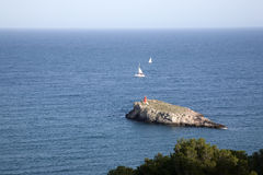 Island off Ibiza Stock Photo