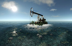 Island Oil Pump Royalty Free Stock Photography