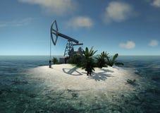 Island Oil Pump Royalty Free Stock Image