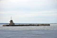 Island with an old Fort near the shores of Kronstadt Stock Photography