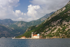 Island of Our Lady of The Rocks. Montenegro stock photo