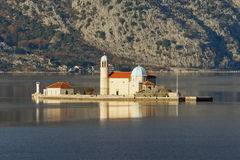Island of Our Lady of The Rocks. Montenegro Stock Photography