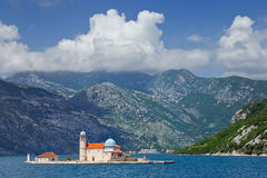 Island of Our Lady of the Rocks, Montenegro Stock Photography