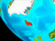 Island på jord från utrymme Royaltyfria Bilder
