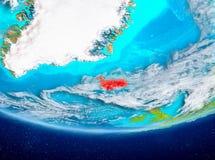 Island på jordklotet från utrymme Arkivfoto