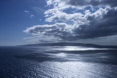 Island in Pacific ocean. Royalty Free Stock Photography