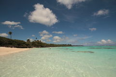 Island in the pacific. An Island in the south pacific with lovely clear seas Royalty Free Stock Photography